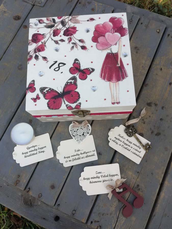 Ékszertartók, ajándékdobozok, varródobozok, virágboxok